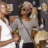 """Grace Kisa and earthSista PrettyBlak discuss one of Grace's works, """"Inside and Out"""""""