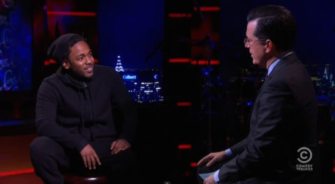 "Soundcheck: Kendrick Lamar debuts new Untitled song on ""The Colbert Report"""
